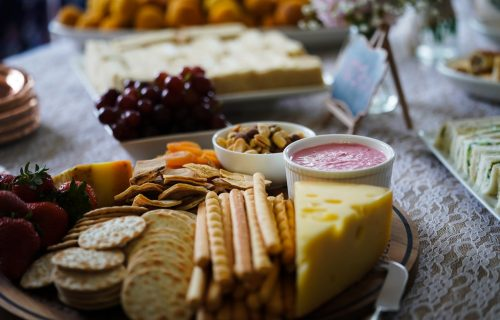 cheese crackers grazing platter